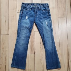 Affliction Distressed Jade Jeans Womens Size 29